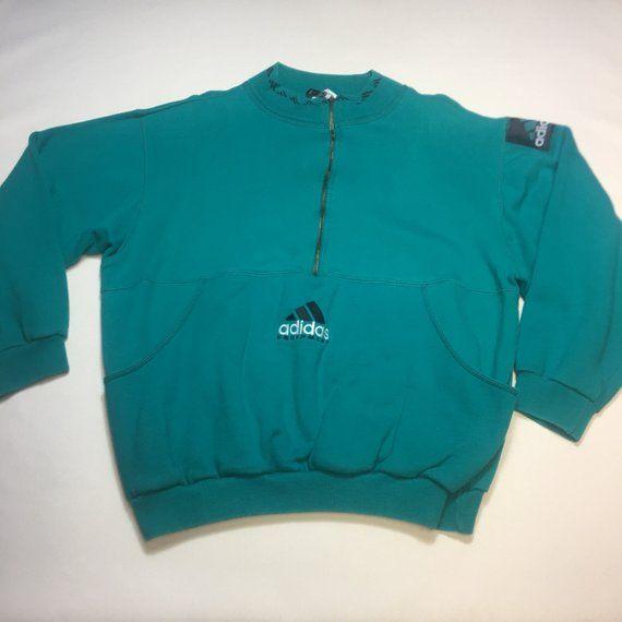 Vintage Adidas equipment EQT 14 zip pullover jacket Depop