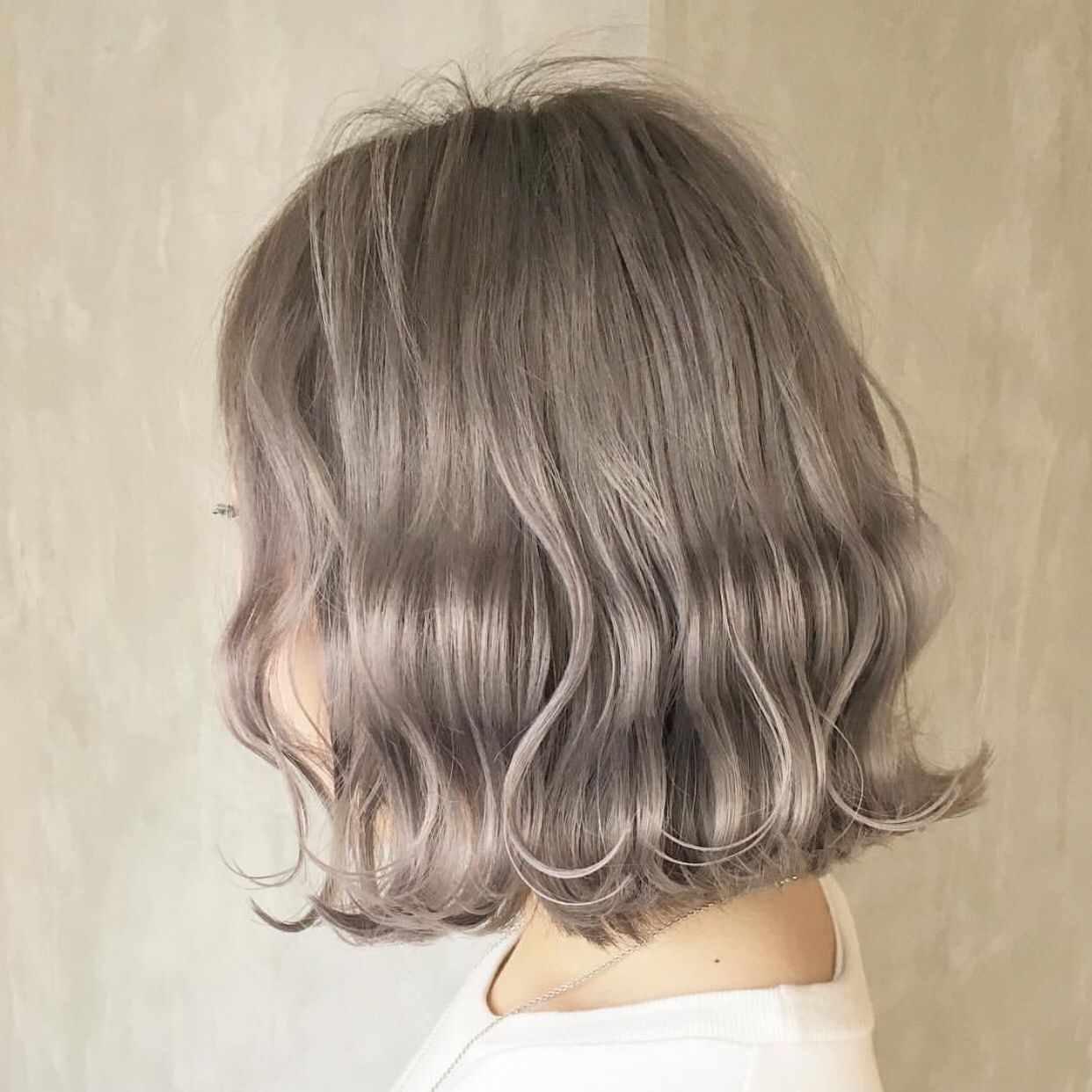 short wavy ash brown hair