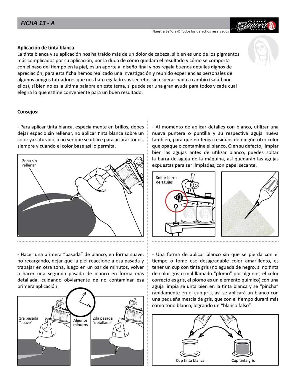 Ficha 13a Tinta Blanca 01 Caos Tattoo Estudio De Tatuajes Machine Diagram Profesional Tatuadores