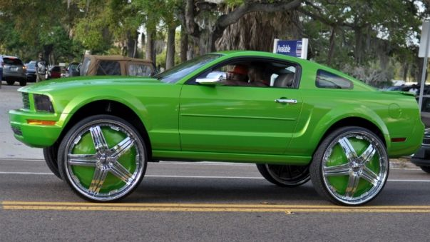 Truck With 30 Inch Rims Google Search