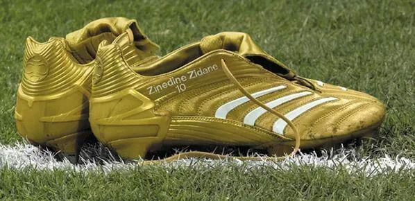 Zinedine Zidane S 2006 World Cup Final Boots Gold Predators Adidas Women Nike Women Football Boots