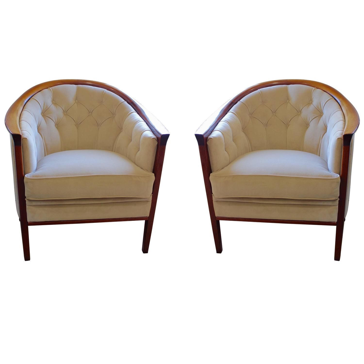 Antique lounge chairs - Pair Of Scandinavian Modern Tub Chairs By Bertil Fridhagen Circa 1960 See More Antique