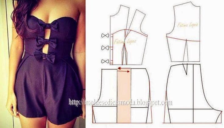 Como hacer jumpers cortos y largos para dama | jumper short | Pinterest