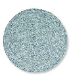 Llbean All Weather Braided Rug Round Concentric Pattern Rugs