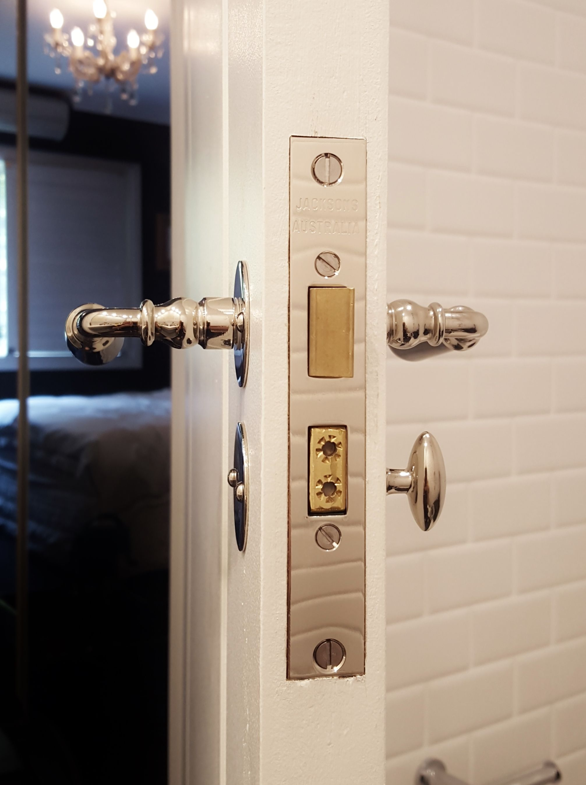 Brionne Lever Thumb Turn On A Jacksons Privacy Mortice Lock Installed By The Tidy Tradie Lock Carpenter Suppli Door Hardware Installation Mortice Lock