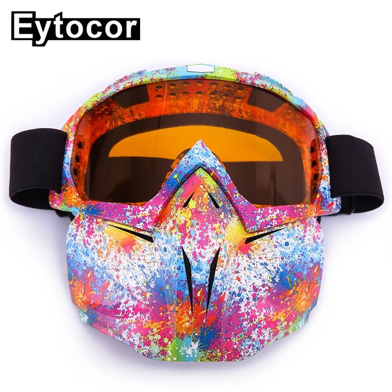 Find More Skiing Eyewear Information About Eytocor Anit Uv Dustproof Snow Skiing Goggles Face Mask Winter Sn Motocross Goggles Winter Face Mask Goggles Glasses