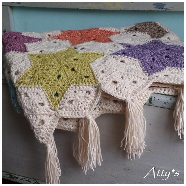 Star Blanket pattern by Atty van Norel | Crochet | Pinterest ...