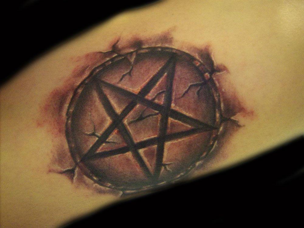 Satanic Pentagram Star Tattoo Tattoos Pinterest Pentagram