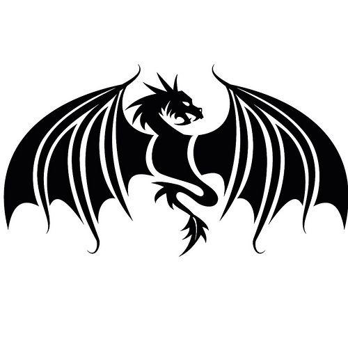 28+ Dragon logo black and white clipart ideas