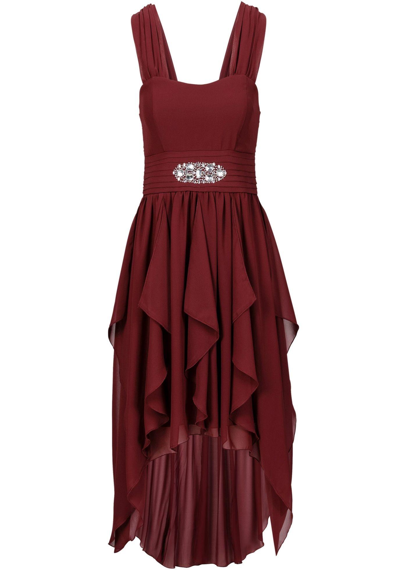 Geschmackvolles Kleid mit Schmucksteinen - ahornrot in 14