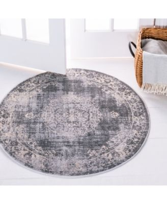 Bridgeport Home Anika Ani1 Gray 6 X 6 Round Area Rug Reviews