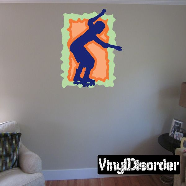 Rollerblading Wall Decal - Vinyl Sticker - Car Sticker - Die Cut Sticker - CDSCOLOR017
