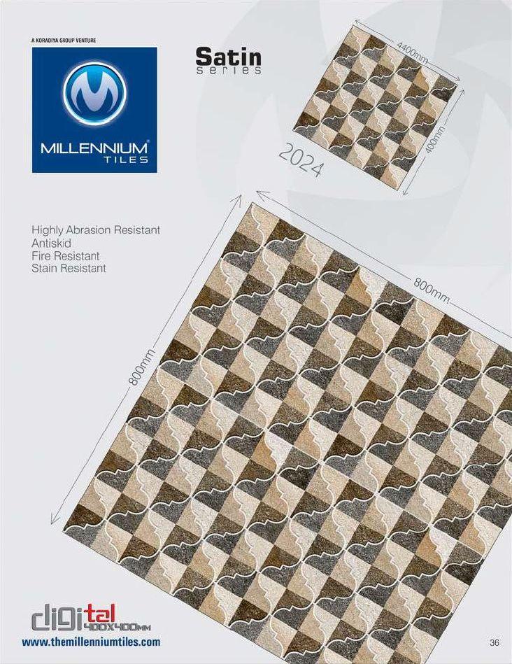 CF Tile Design 2024   Millennium Tiles 400x400mm (16x16) Digital Ceramic CF  Satin Floor Tiles   Indoor U0026 Outdoor Use   Highly Abrasion Resistant    Antiskid ...