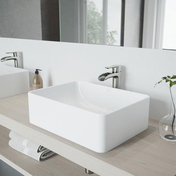 Vigo Vessel Bathroom Sink With Faucet