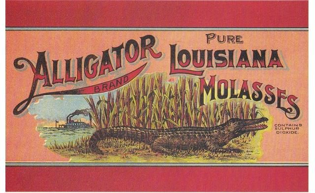 Vieux Carre Molasses Can Label New Orleans Louisiana