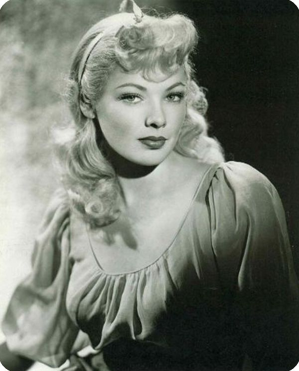 A Rare Photo Of The Incredible Gene Tierney As A Blonde Taylor