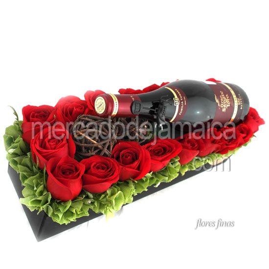 Arreglo Floral Rosas Rojas Ahora Encantados Envia Flores