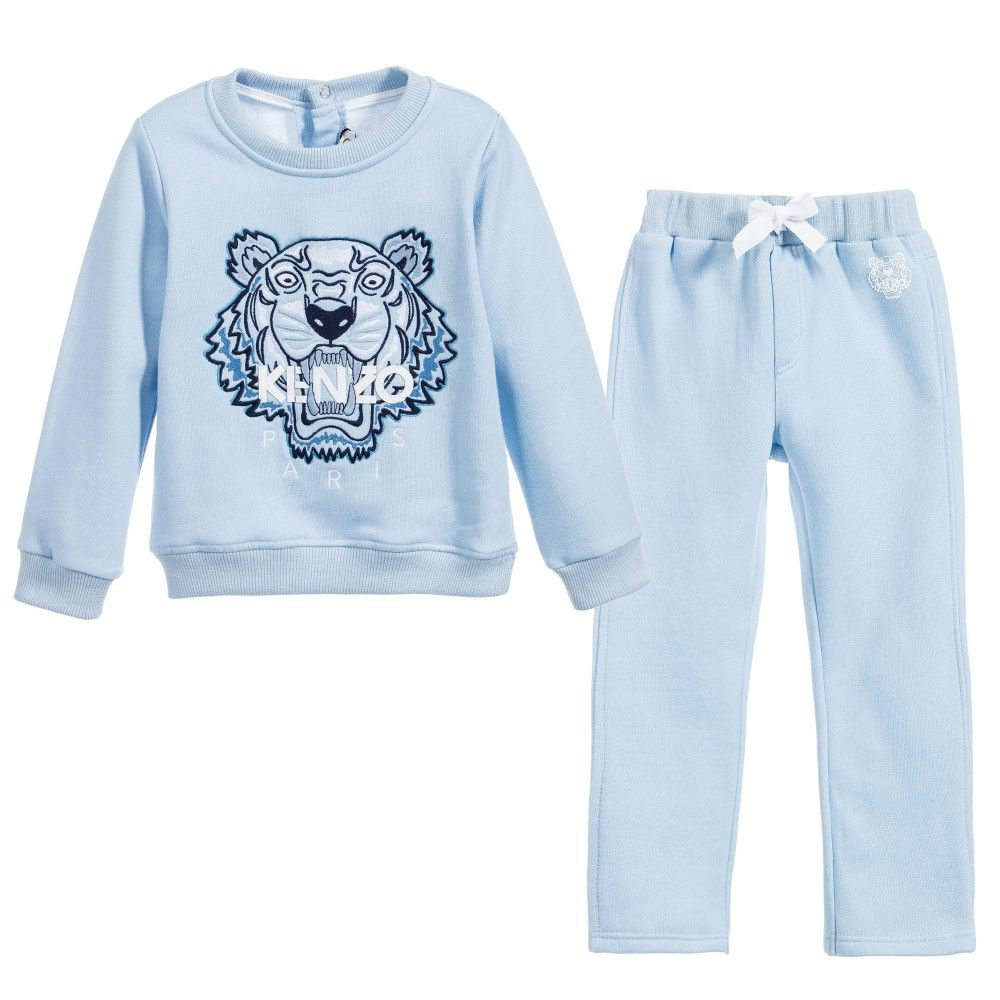 e1aa0beca95f Pale Blue  Tiger  Tracksuit
