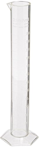 Azlon Polymethylpentene Graduated Cylinder With Molded Graduation, 42Mm Diameter, 250Ml Capacity, 2Ml Graduation Interval, 2015 Amazon Top Rated Measurement Kits #BISS