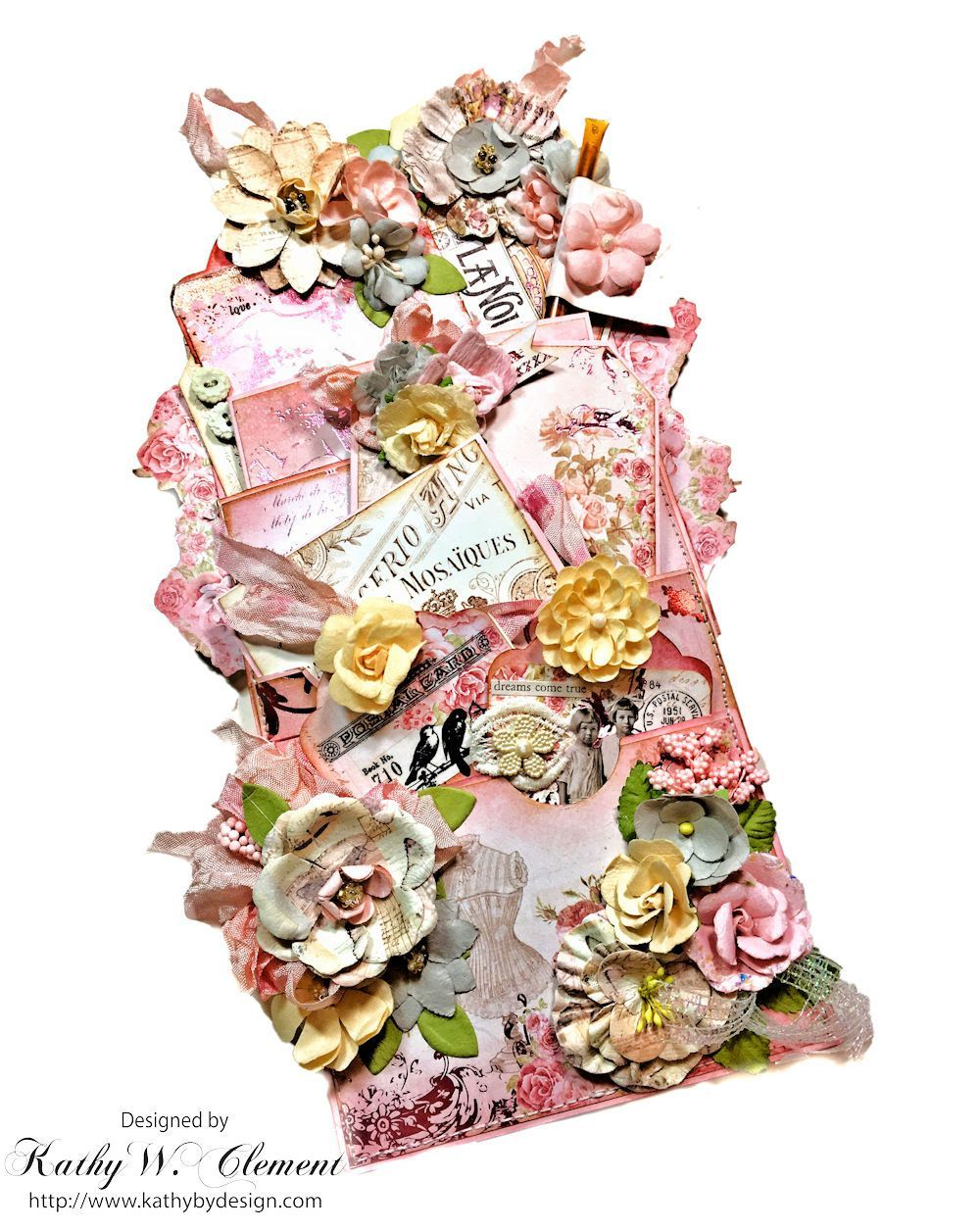 Prima Love Story Altered Paper Bag Tutorial For Frilly And Funkie