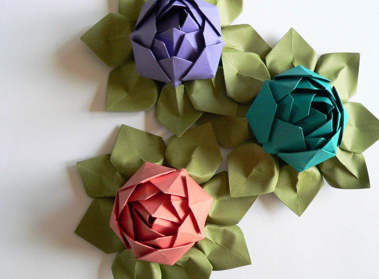 Paper flower handmade origami lotus flower gift table paper flower handmade origami lotus flower gift table decoration wedding favor izmirmasajfo Images