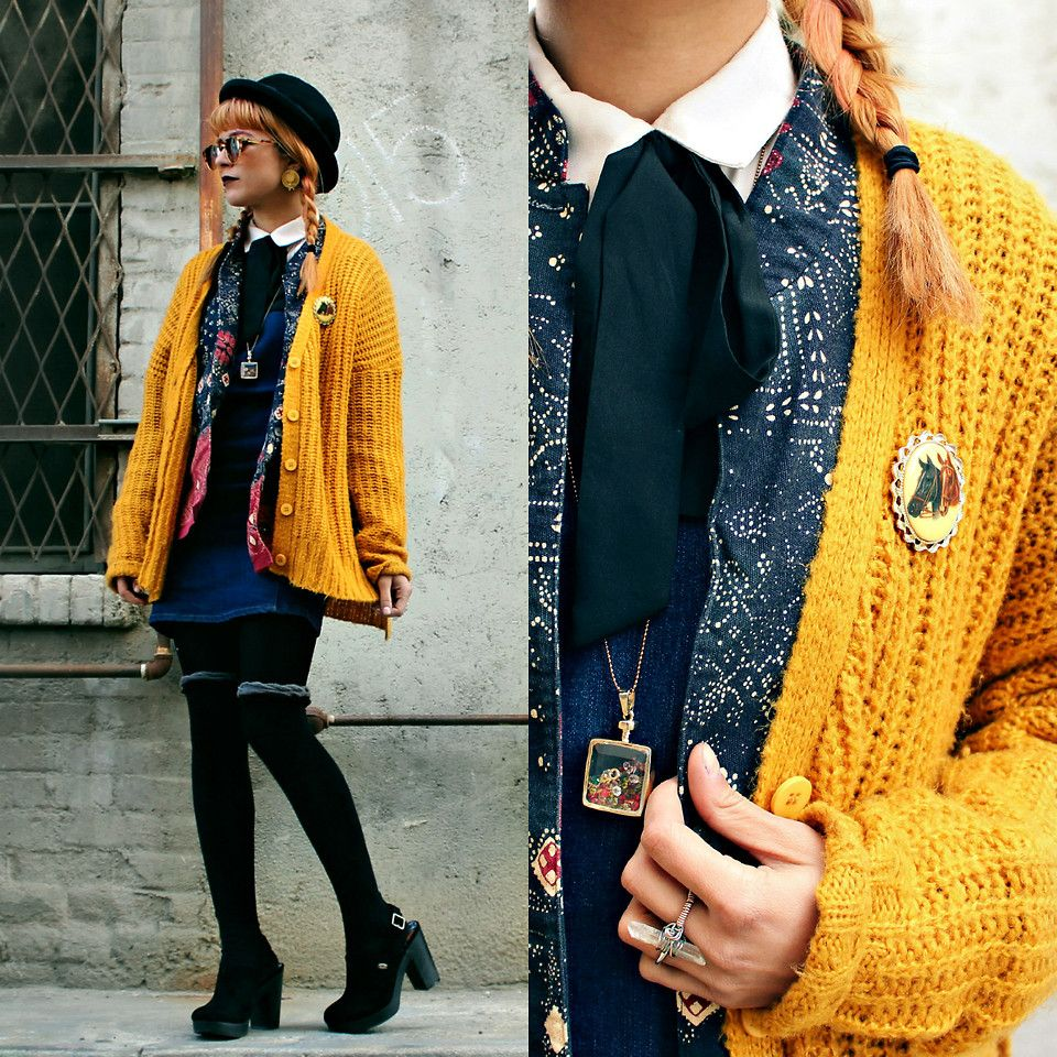 I had fun layering these classic and vintage pieces ♥  #vintage #hipster #classic