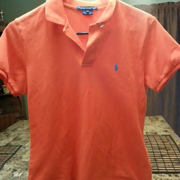 Polo Ralph Lauren women's golf shirt Orange short sleeve shirt. New without tags. Make me an offer. Polo by Ralph Lauren Tops Button Down Shirts