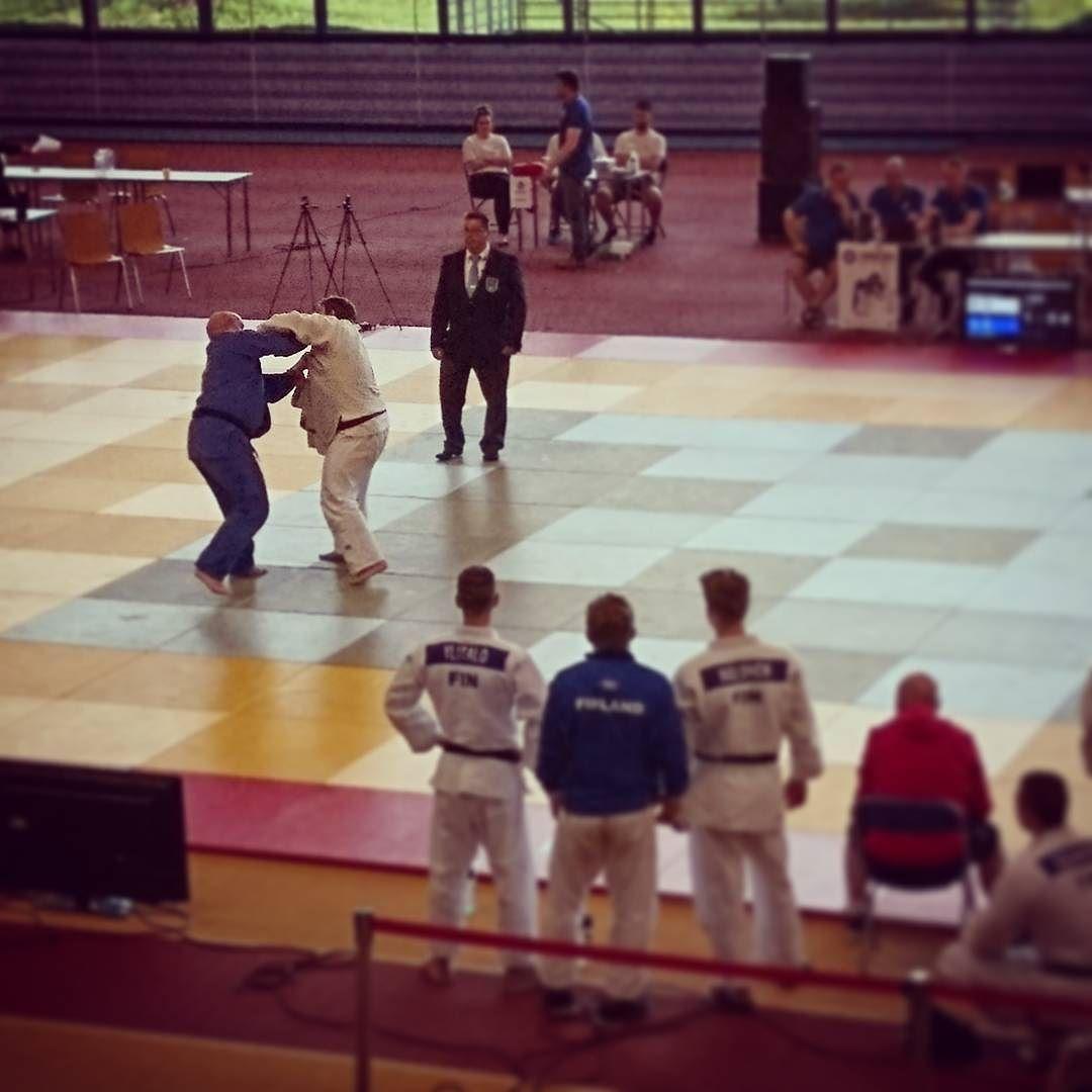 Käytiin vähän katsomassa judokisoja kupittaalla