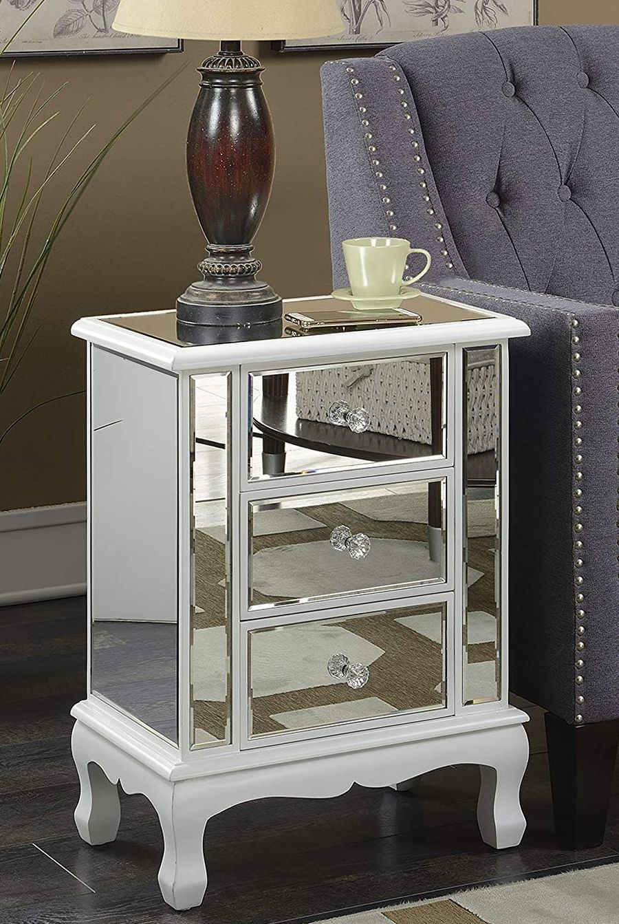 Mirrored End Table Mirrored End Table End Tables Table