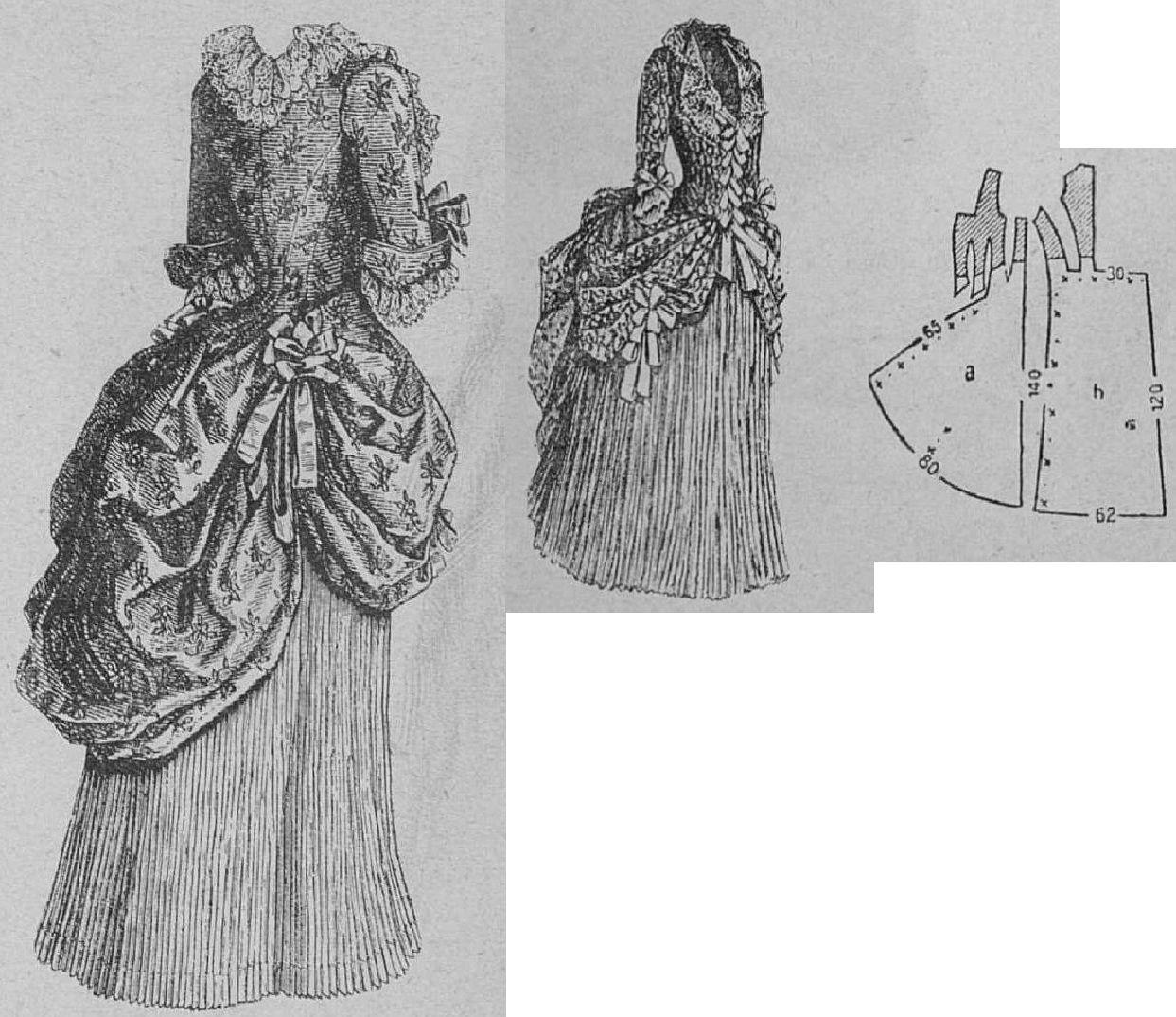 Pink dress drawing  Illsutrirte Frauen Zeitung  Bridesu maid dress from solid and