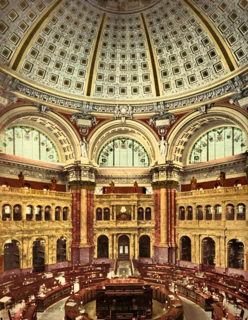 Thomas Jefferson Building Library Of Congress Washington D C Reading Room Library Of Congress Library