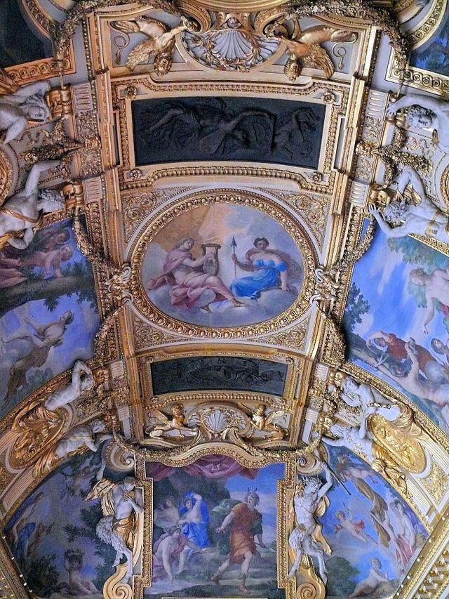 Appartements d'été d'Anne d'Autriche - Plafond peint par Romanelli