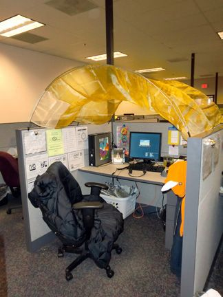 Cubicle Canopy...this look familiar to any of my work buddies. Look & Cubicle Canopy...this look familiar to any of my work buddies ...