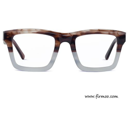 f14e27c010e4c Retro square two-tone textured brown   gray men s eyeglasses frames ...