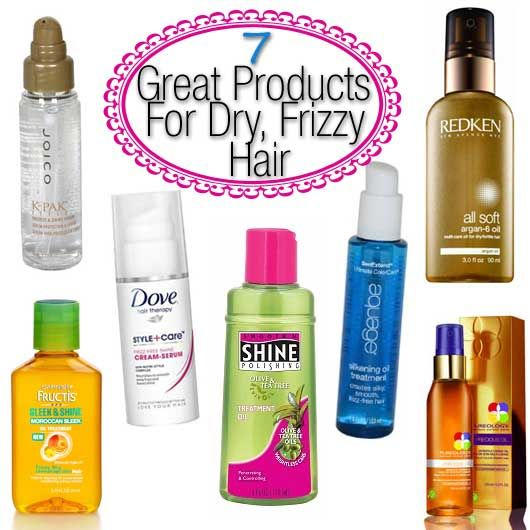 7 Great Products For Dry Frizzy Hair Dry Frizzy Hair Frizzy Hair Remedies Frizzy Hair