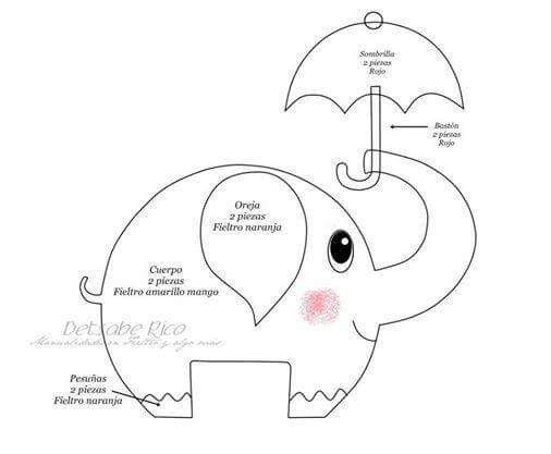 Elefant 2/2 | Felt, Telas y Otros | Pinterest | Elefanten, Filz und ...