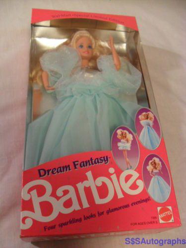 RARE VINTAGE NIB WALMART EXCLUSIVE 1990 DREAM FANTASY BARBIE DOLL BY MATTEL 7335