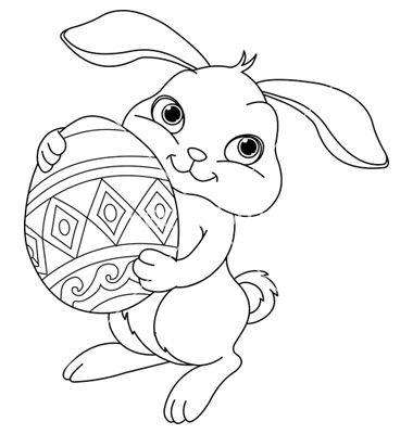 Easter Bunny Coloring Page | Bunny coloring pages, Bunny ...