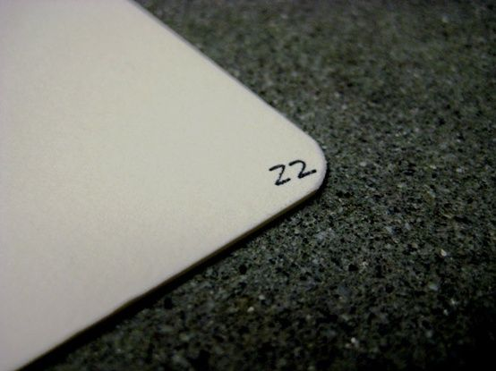 Number the back of your RSVP cards. When your guests send them back their handwriting may be illegible. And it is a good way to keep track of who hasn't RSVP'd yet.