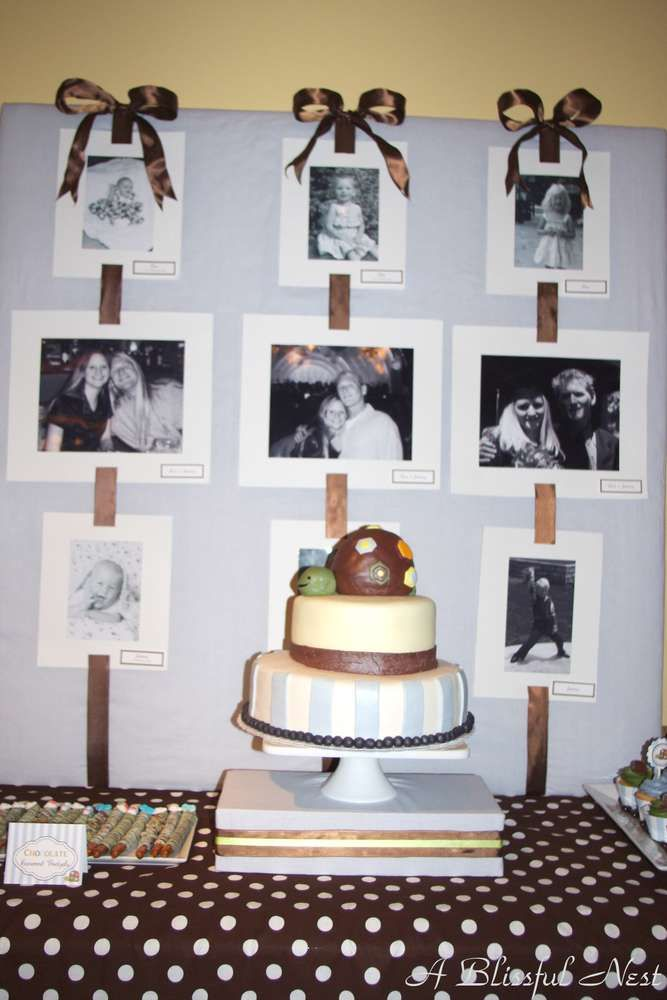 Modern Turtle Baby Shower | CatchMyParty.com
