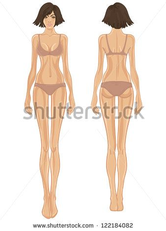 paper doll template woman - fashion paper doll template young european woman 39 s body