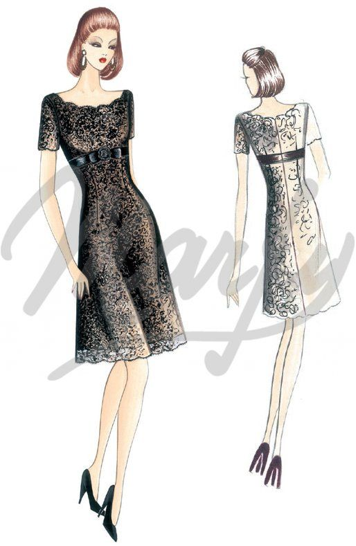 The Marfy hand made pre-cut sewing pattern :: Marfy Collection 2016/2017 :: Sewing pattern 3964 -