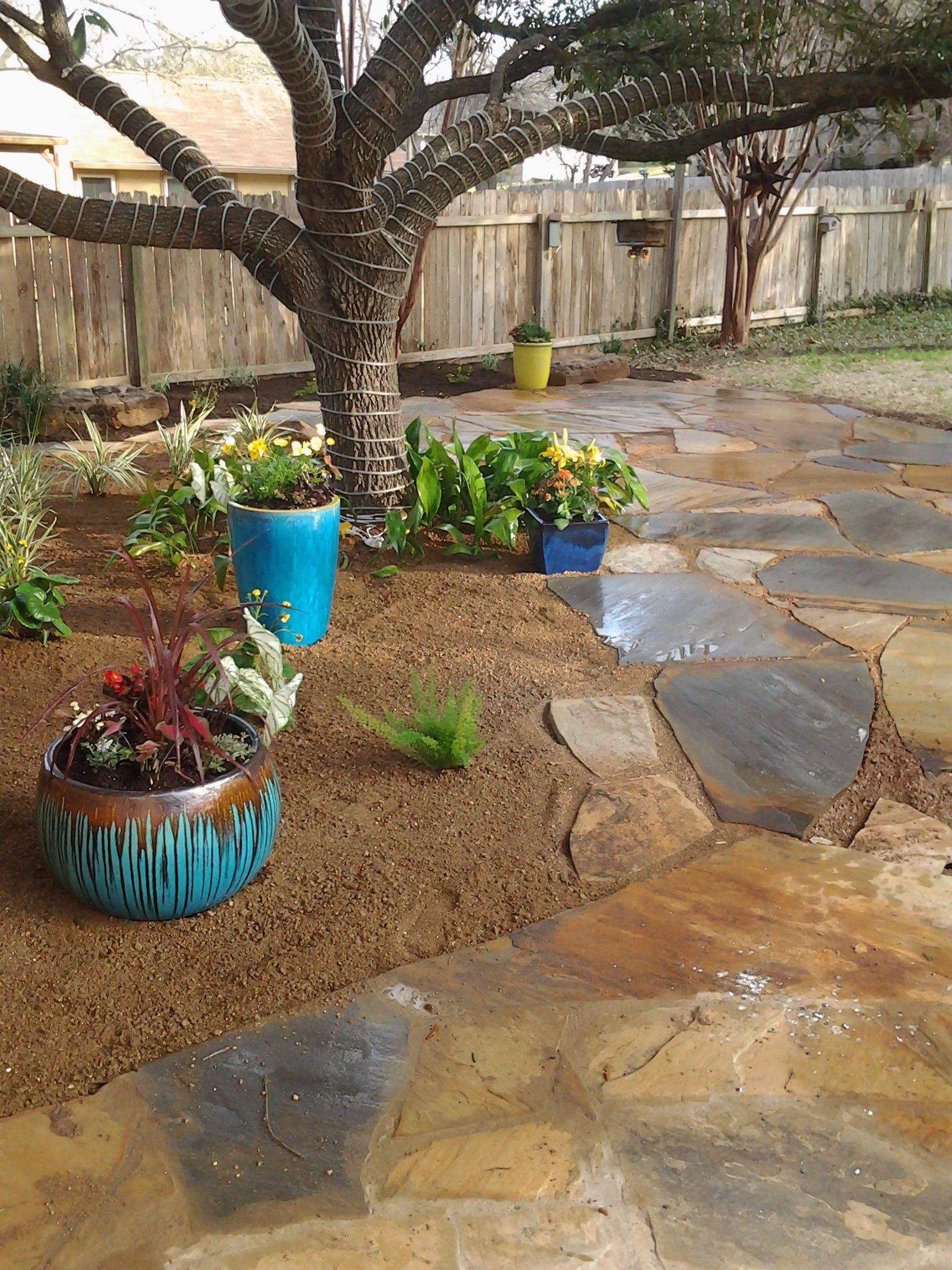 backyard landscape - decomposed