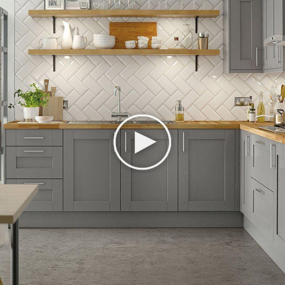 Timber Shaker Cuisine Homebase En 2020 Meuble Cuisine Mobilier De Salon Couleur Cuisine