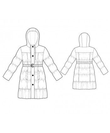 Custom-Fit Sewing Patterns - Puff-Style Coat with Belt and Hood ...