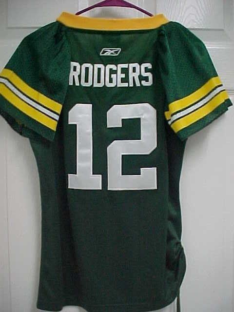 cfd9c2f4617 AARON RODGERS 12 Green Bay Packers Women Rhinestone Sewn Jersey M Reebok  New Tag #ReebokOnField #GreenBayPackers