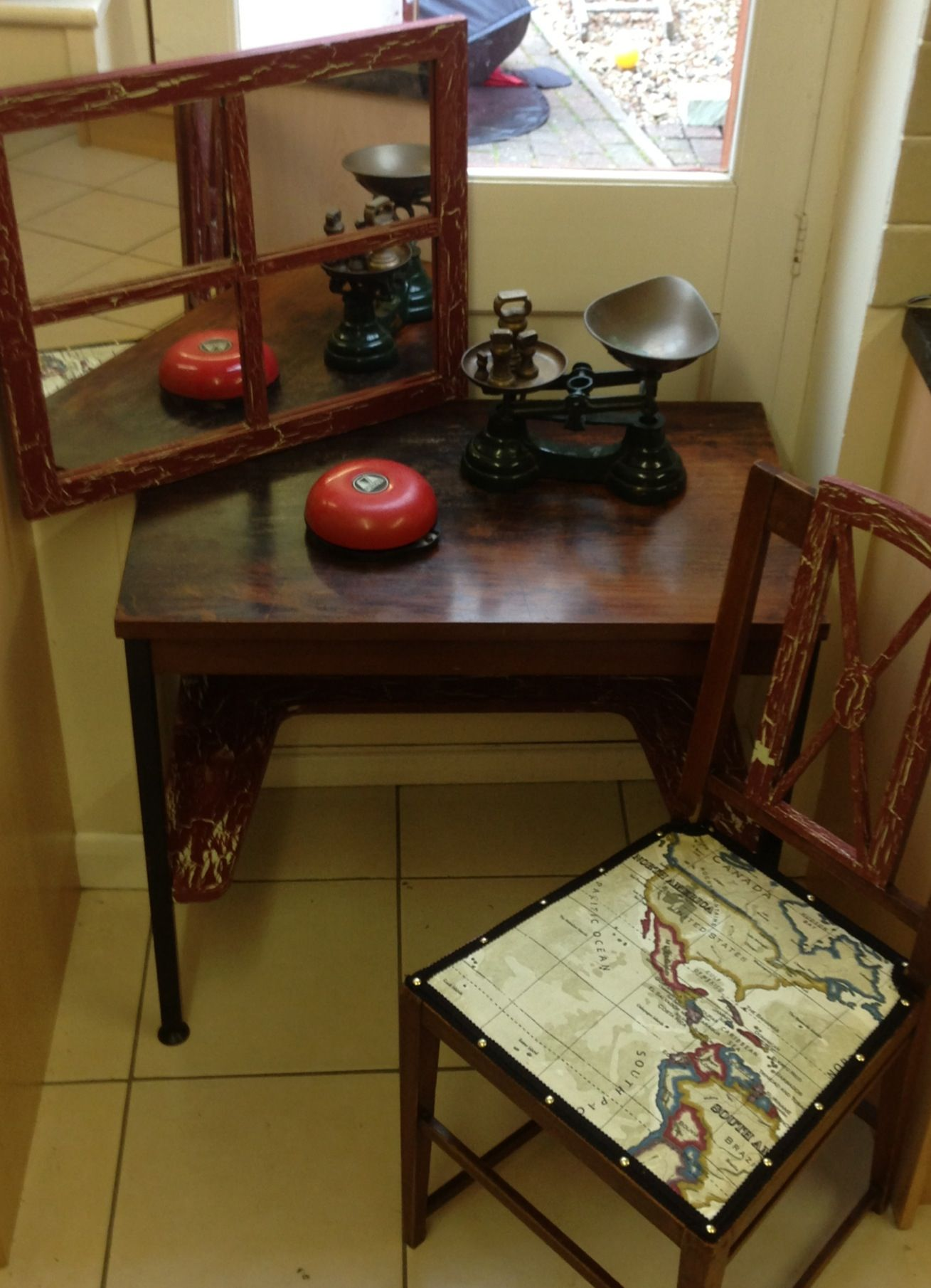 Mens Dressing Table Or Desk Father S Day Display Crackle Paint
