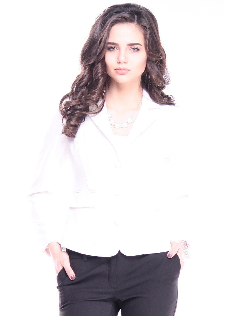 #AdoreWe #StyleWe Blazers - Designer Laura Bettini Milky H-line Formal Cotton-blend Symmetric Blazer - AdoreWe.com