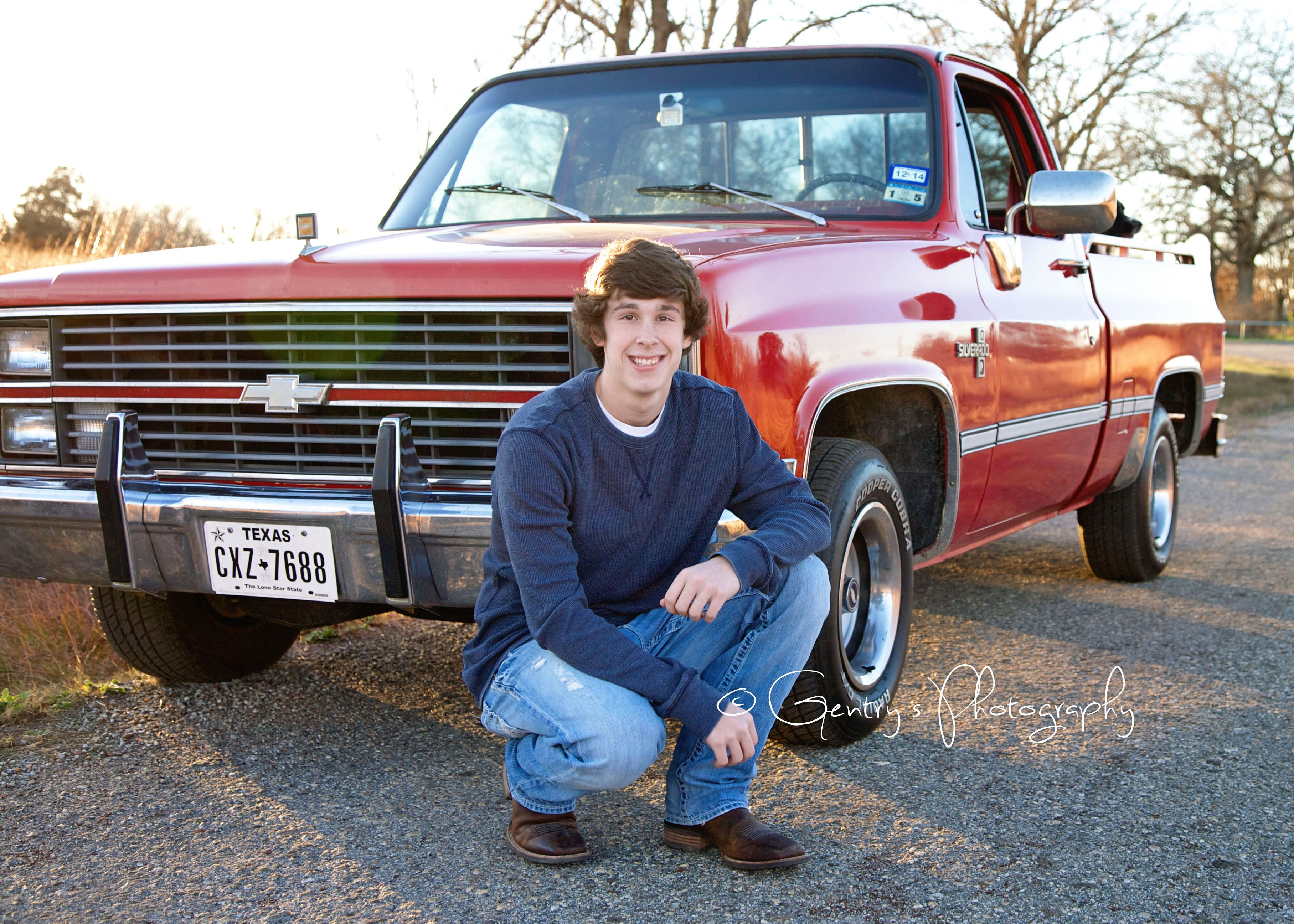 Tyler, Age 16, Boy, Teenager, Guy, Senior, Red Chevy Truck