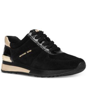 d8a11ab4b45 Michael Michael Kors Allie Trainer Sneakers - Black 5M in 2019 ...